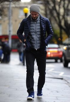 David Beckham wearing Moncler jacket