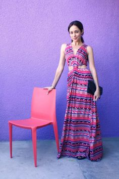 The Delmy Dress was perfect for a night out from Autumn Reeser's desert road trip guest post on our Tumblr!