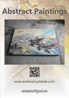 Abstract Art Paintings Flyer - print this from my art website  #art   #paintings