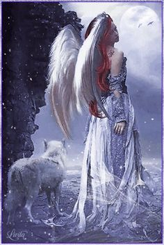 The perfect Fantasy Animated GIF for your conversation. Discover and Share the best GIFs on Tenor. Wolf Pictures, Angel Pictures, Angels Among Us, Angels And Demons, Beautiful Fairies, Beautiful Gif, Fantasy Kunst, Fantasy Art, Gothic Angel