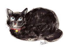 """""""Old cat"""" by Yusuke Otake (Japan, b. 1939)"""