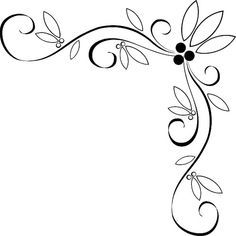 Embroidery Pattern from Vine Applique Quilt Borders Ideas | Fancy vine corner border design image. jwt