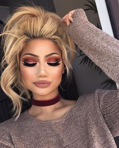 """64k Likes, 351 Comments - ALINA (@makeupbyalinna) on Instagram: """"New look   Eyes: @hudabeauty Rose gold palette (sandalwood, henna, bossy, cocoa in the crease,…"""""""