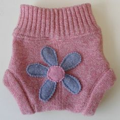 Upcycle Diaper cover.  Made from a sweater.  I really like this.  Very creative.