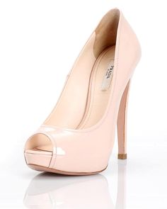 Prada Vernice Peep Toe Pumps- Made in Italy