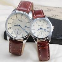 Color choices: Mens Watch: 24cm; Ladies Watch: 22cm Special function: the calendar Applicable to the