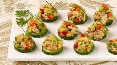 Elegant and delicious Crab and Avocado Canapes are perfect for your party! #Recipe via @bestrecipesever