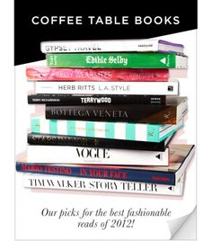 2012 Coffee Table Books