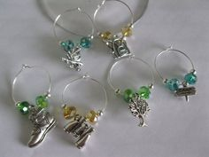 Camping Wine Charm Set by Aglasswithclass on Etsy, $12.50