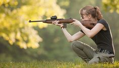 M1 Carbine and peaceful scenery