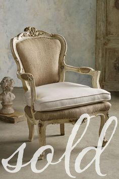 Im obsessed with this chair!! Gabriel Bergere Armchairs, Set Of 2 - Vintage Armchair Set, Antique Armchair  set | Soft Surroundings