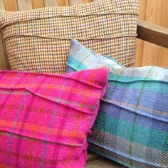 Twintage is a small home ware design business working with traditional fabrics like HarrisTweed in a contemporary way. Inspiration is all around.