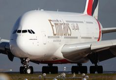Airbus A380: Exiting the runway, heading to parking position!