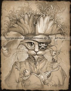 Hey, I found this really awesome Etsy listing at https://www.etsy.com/listing/161407496/pirate-cat-pirate-art-print-captain-hook