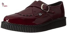 T.U.K. Shoes Men's Burgundy Patent Monk Buckle Pointed Creeper EU39 / UKW6 - Chaussures tuk (*Partner-Link)