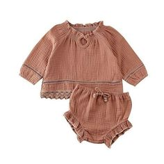 [big sale] Dropshipping Summer Autumn Baby Suit Ruffle Long Sleeve Top T-shirt Short Pants Adorable Baby Outfits, Toddler Outfits, My Little Kids, Christmas Look, Girls Long Sleeve Tops, Baby Girl Tops, Baby Girls, Ruffle Bloomers, Girl Sleeves