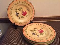 """Pfaltzgraff """"Napoli"""" Hand Painted ~ Set of 4 ~ Salad Plates ~ 9 1/4"""" #Pfaltzgraff"""