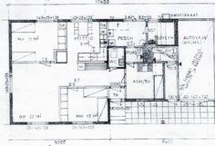 vanhemman talon pohjapiirros Floor Plans, Floor Plan Drawing, House Floor Plans