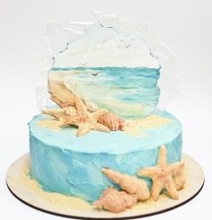 Jello, Cake Ideas, Birthday Cake, Cakes, Beach, Desserts, Food, Pastries, Gelatin