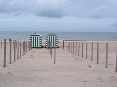 Beach huts, De Panne.