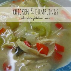 Curl up with a bowl of this hearty comfort food...nothing says cozy like Chicken and Dumplings!