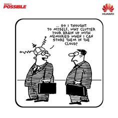 On a lighter note: Using cloud for a stress-free life...#cloud #technology #Huawei #Communication