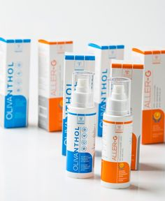 Samcos, Olivanthol & Aller-g - Herbal Skin Spray on Packaging of the World - Creative Package Design Gallery