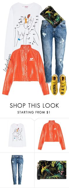 """""""Untitled #7200"""" by stylistbyair ❤ liked on Polyvore featuring Ashish, Courrèges, adidas and Gucci"""
