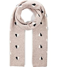 Add a romantic touch to cool weather looks with this luxe cashmere heart knit scarf from Chinti & Parker #Stylebop