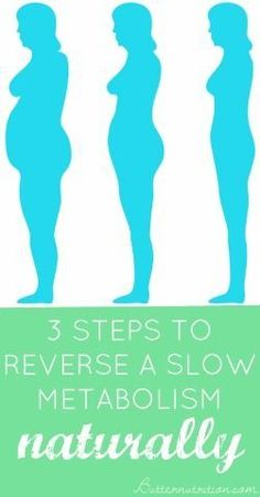3 Steps to REVERSE a slow metabolism naturally! | Butter Nutrition http://butternutrition.com/reverse-slow-metabolism/
