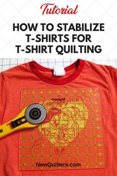 How to stabilize t-shirts while t-shirt quilting - . How to stabilize t-shirts while t-shirt quilting - . How to stabilize t-shirts w. Quilting For Beginners, Sewing Projects For Beginners, Quilting Tips, Quilting Projects, Beginner Quilting, Quilting Board, Sewing Patterns Free, Free Sewing, Quilt Patterns