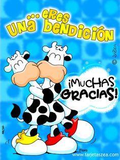 tarjeta-de-gracias-Del cielo para mi. Friend Birthday, Happy Birthday, Baie Dankie, Blessing Words, Love Phrases, Spanish Greetings, Paper Book, Love Cards, Card Tags