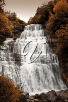 iPHOTOS.com -Royalty Free Photo of a Waterfall in Autumn