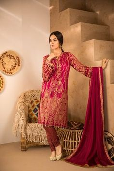 8eacf9c617c Sapphire 3 Piece Shahi Jall B Lawn Collection Custom Stitched Suit - Pink  Eid Dresses