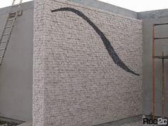 Roc2c parede exterior em calçada  Calçada vertical Private house