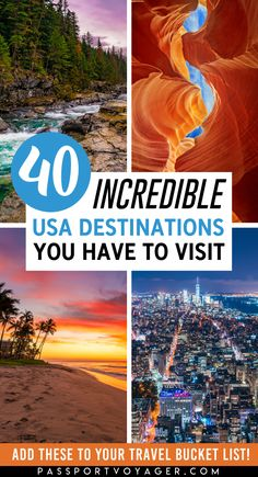 Discover the best of the beautiful United States, from charming small towns to epic national parks and so much more! Check out this awesome guide on the best places to visit in United States, featuring the most stunning destinations in the USA. Usa Roadtrip, Road Trip Usa, Usa Travel Guide, Travel Usa, Travel Guides, Travel Tips, Travel Goals, Travel Hacks, Travel Packing