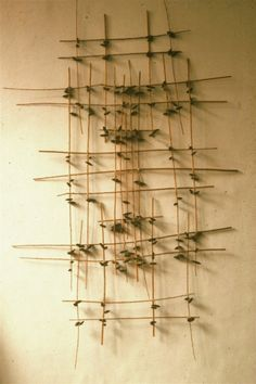 wall branches - tie twigs together to great textured backdrop