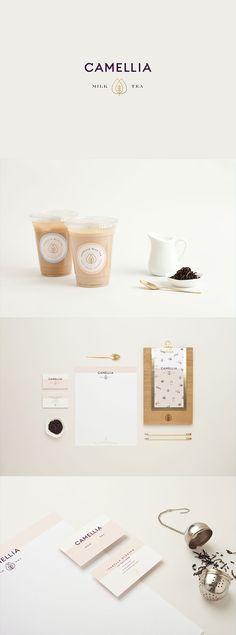 Camellia Milk Tea branding by Menta