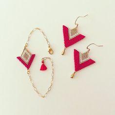 Bracelet et boucles «Angelina» - Rouge / Doré ✨ Sur demande, je peux les créer dans d'autres couleurs ! :) Ils sont disponibles sur le site www.boutiquelespetitstresors.com  - - - #miyuki #miyukiaddict #miyukidelica #miyukibeads #miyukidelicas #miyukistyle #perle #perles #perlesmiyuki #braceletstore #braceletsoftheday #braceletperles #fantaisie #inspiration #diy #faitmain #fattoamano #handmade #creation #creative #creativity #jenfiledesperlesetjassume #bijoux #bijouxfattiamano #jewels…