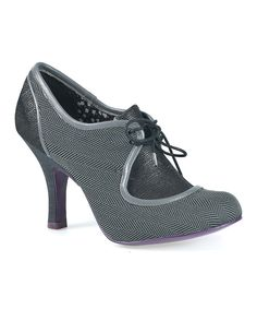 Love this Ruby Shoo Grey Twill Olivia Lace-Up Heels by Ruby Shoo on #zulily! #zulilyfinds