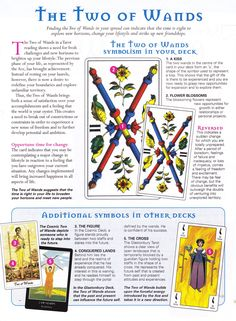 Tarot: The two of wands