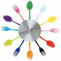Utensils Kitchen Clock
