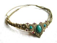 Tiara Kopfschmuck oder Kette Smaragd