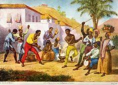 A Cultura Faz um País - Samba e Arte http://sergiozeiger.tumblr.com/post/95226079043/a-cultura-faz-um-pais-samba-e-arte-o-samba O samba brasileiro tem muitas raízes, principalmente as africanas. O samba é uma das maiores manifestações populares do Brasil. Pintores estrangeiros das Missões Artísticas e Científicas retrataram os costumes brasileiros. Batucada, homens e mulheres dançando em área rural, Johann Moritz Rugendas, Viagem Pitoresca ao Brasil, 1835.