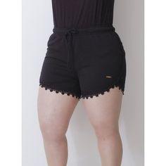 Short em Chiffon Sportswear Rendado