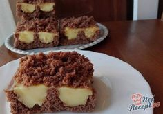 Jednoduchý koláček HRADBA | NejRecept.cz Different Cakes, Sweet Cakes, Tiramisu, Biscuits, Muffin, Food And Drink, Snacks, Breakfast, Desserts