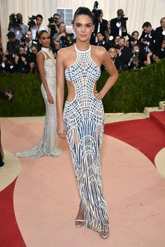 Kendall Jenner in Atelier Versace on the definitive Met Gala Best Dressed list.