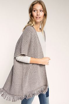 Esprit / Offenes Cape aus Woll-Mix Bell Sleeves, Bell Sleeve Top, Pulls, Outfit, Tunic Tops, Women, Accessories, Fashion, Wool