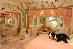 i will probably force my dog obsession onto my future daughter, and what better way to do so than with this adorable room!