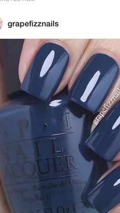 Dark blue nail polish opi sephora coupon 50 off nails bluenail darkbluenail beauty fashion makeup colorfulnail slim fit jeans fr damen Opi Blue Nail Polish, Best Nail Polish, Nail Polishes, Blue Shellac Nails, Gel Nail, Fancy Nails, Cute Nails, Pretty Nails, Hair And Nails
